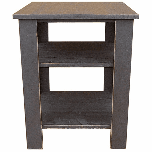 End Table with Shelves, 20 inch wide
