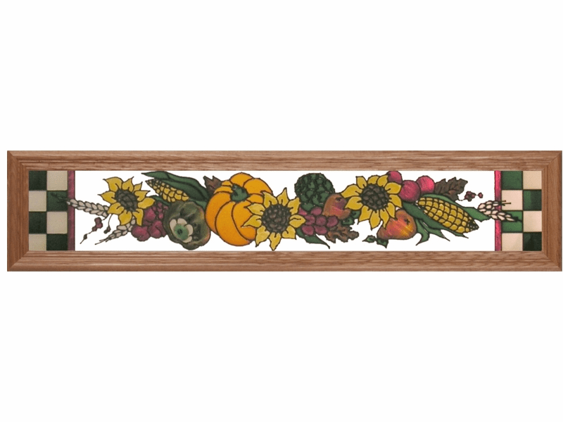 Fall Harvest Stained Glass Art Glass