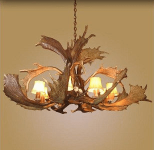 Fallow Antler 8 Light Chandelier