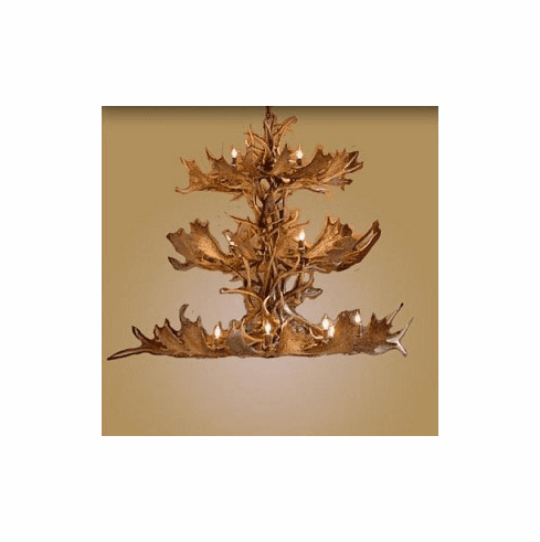 Fallow/Elk Oval Triple Tier 18 Light Chandelier