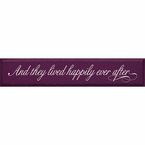 Family & Friend Sign...And They Lived Happily Ever After (Script)