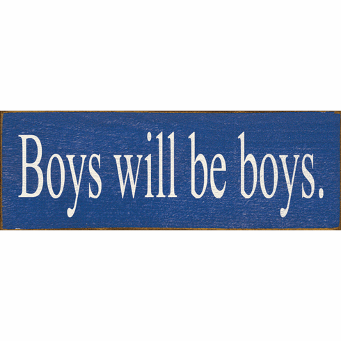 Family & Friend Sign...Boys Will Be Boys (Small)
