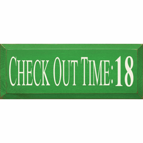 Family & Friend Sign...Check Out Time: 18