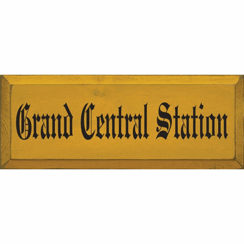Family & Friend Sign...Grand Central Station (Small)