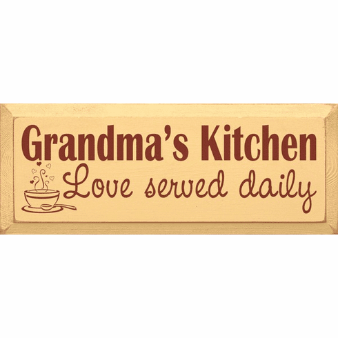 Family & Friend Sign...Grandma's Kitchen - Love Served Daily