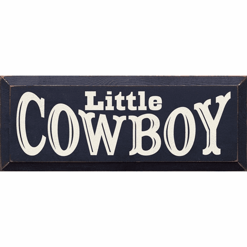 Family & Friend Sign...Little Cowboy