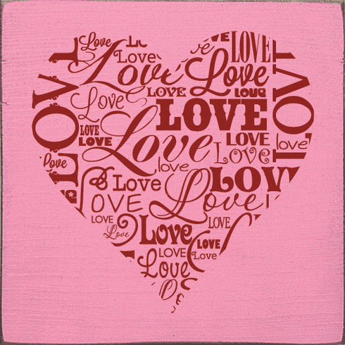 Family & Friend Sign...Love Heart Wordle