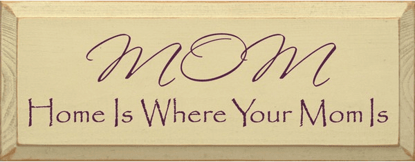 Family & Friend Sign...Mom ~ Home Is Where Your Mom Is