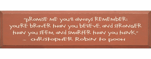 Family & Friend Sign...Promise Me You Will Always Remember... - Christopher Robin (Large)