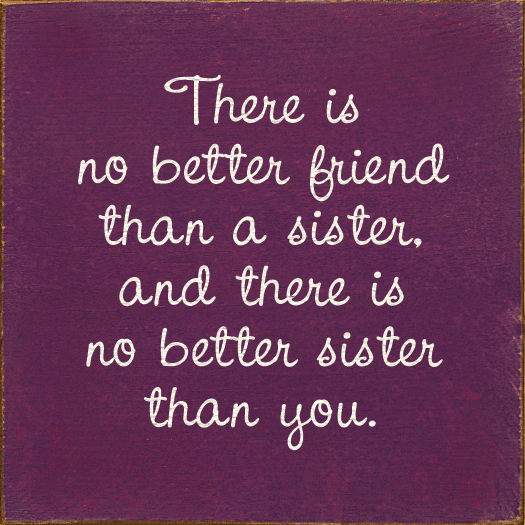 Family & Friend Sign...There Is No Better Friend Than A Sister, And There Is No Better Sister Than You