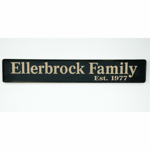 Family Name Sign  w/ Year Est. - Cherished Gift