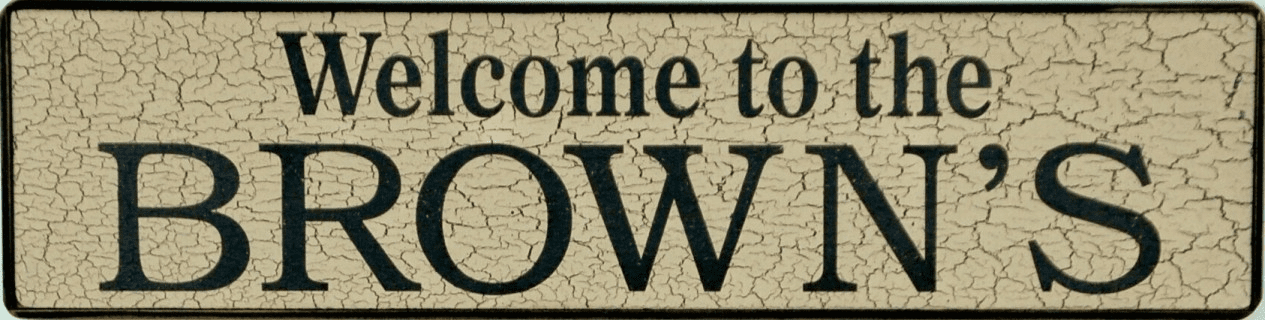 Family Name Welcome Sign - Home Sign