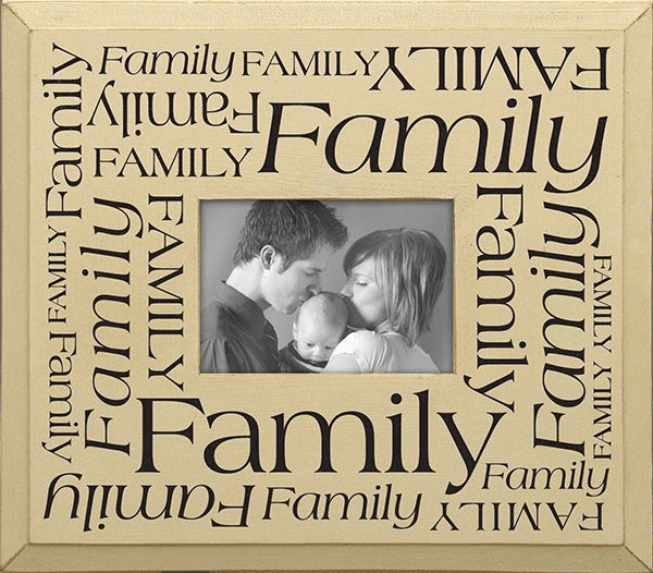 Family Word Jumble Frame