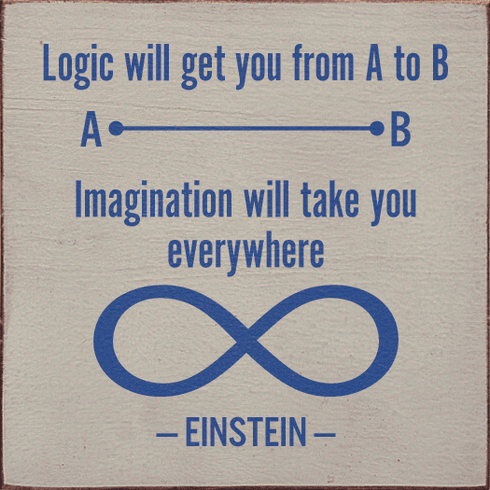 Famous Quotes Sign...Logic Will Get You From A To B. Imagination Will