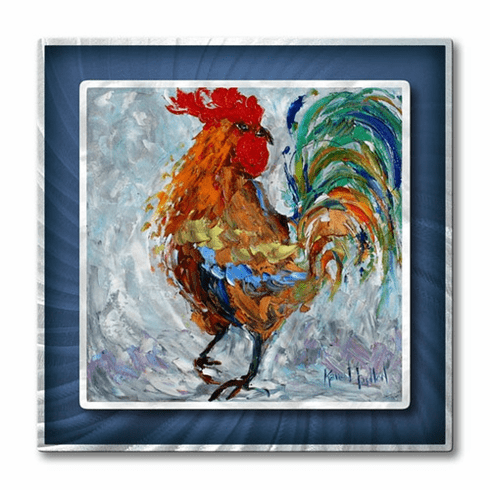 Fancy Rooster Metal Wall Hanging