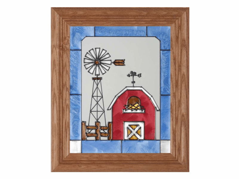 Farm Life I Stained Glass Art Glass