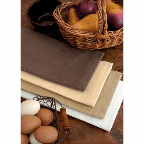 Farmhouse Kitchen Solid Tea Towels,  set of 4