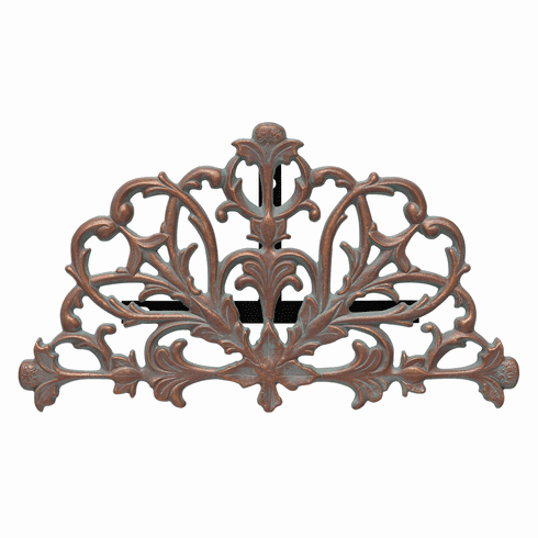 Filigree 1/2 Round Hose Holder - Copper Verdigris