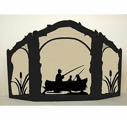 Fisherman Arched or Straight Fireplace Screen