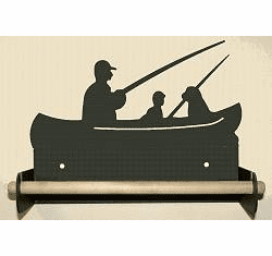 Fisherman Paper Towel Holder With Wood Bar