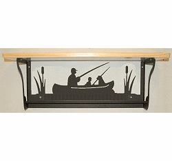 Fisherman Rustic Towel Bar with Shelf