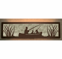 Fisherman Valance Style Bath Vanity Light