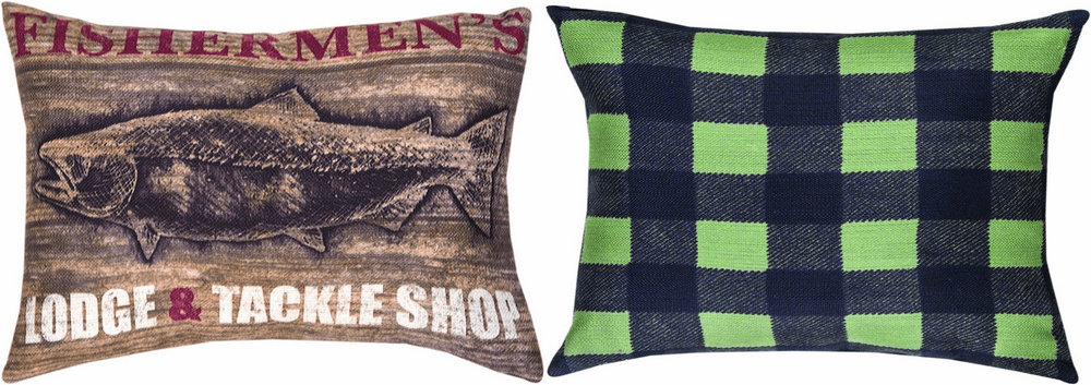 Fishermen's Cove Lodge and Tackle Reversible Pillow
