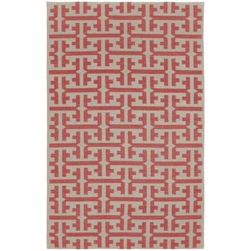 Flat Woven Apricot Rug