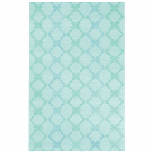 Flat Woven Light Green Rug