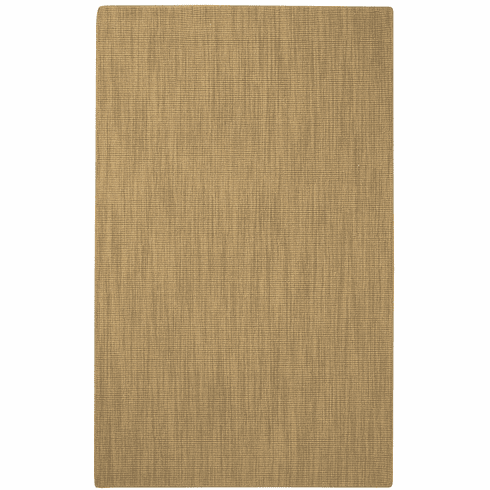 Flat Woven Light Yellow Rug