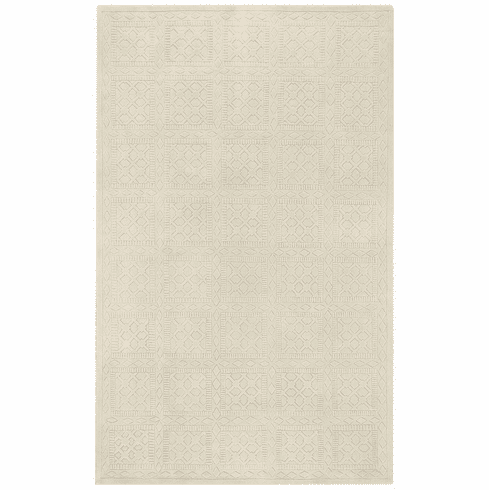 Flat Woven Off White Rug