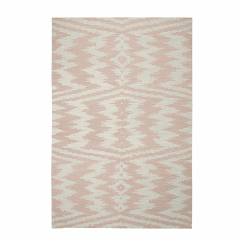 Flat Woven Pink Rug