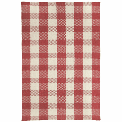 Flat Woven Scarlet Rug
