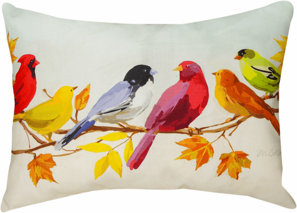 Flocked Together in the Fall Climaweave Large Pillow