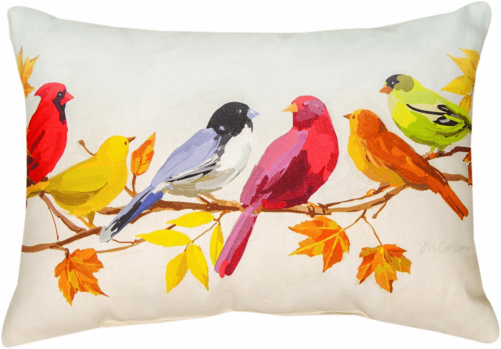 Flocked Together in the Fall Climaweave Small Pillow