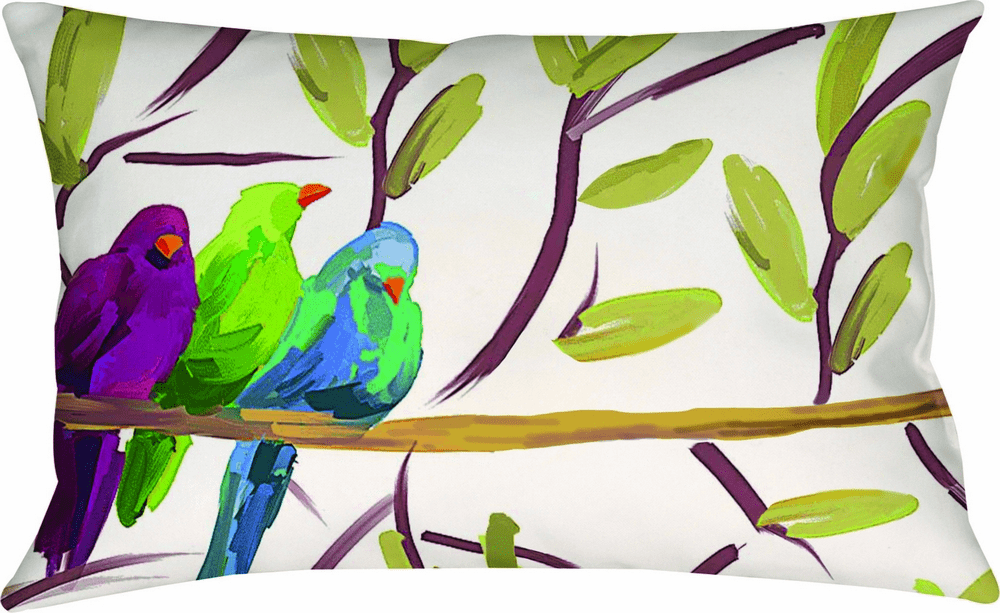 Flocked Together Songbirds Climaweave Pillow