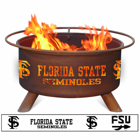Florida State Seminoles Logo Fire Pit Ring