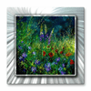 Flower Spotted Field Metal Wall Decor
