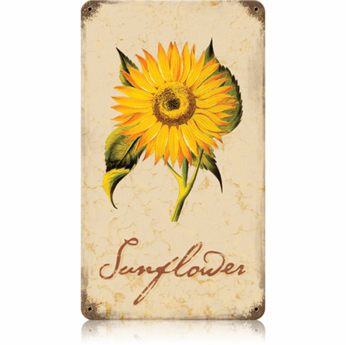 Flowering Sunflower Sign - Sunflower Garden