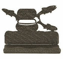 Fly-Rod Fish Business Card Holder