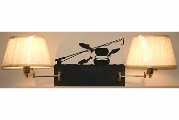 Fly-Rod Fish Double Swing Arm Wall Lamp