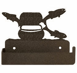 Fly-Rod Fish One Piece Toilet Paper Holder