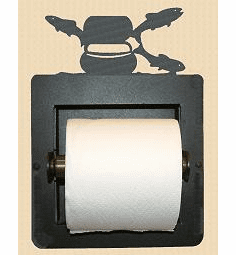 Fly-Rod Fish Toilet Paper Holder (Recessed)
