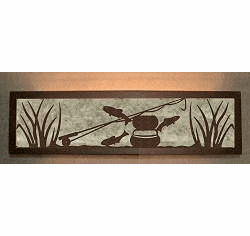 Fly-Rod Fish Valance Style Bath Vanity Light