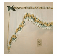 Flying Duck Curtain Rod Holder Pair