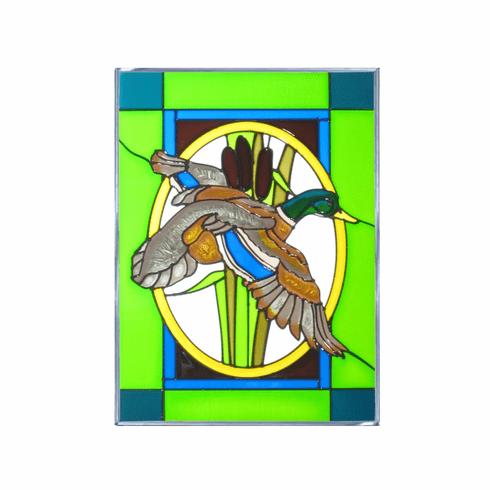 Flying Duck I Stained Glass Art Glass