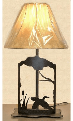 Flying Duck Metal Art Table Lamp