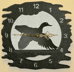 Flying Duck Rough Edge Wall Clock