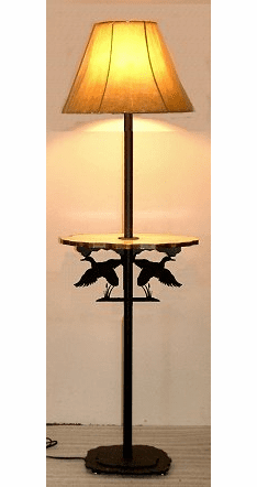 Flying Duck Rustic Floor Lamp With Shelf