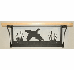 Flying Duck Rustic Towel Bar with Shelf